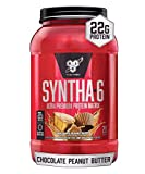 BSN SYNTHA-6 Whey Protein Powder, Micellar Casein, Milk Protein Isolate Powder, Chocolate Peanut Butter, 28 Servings (Packaging May Vary.)