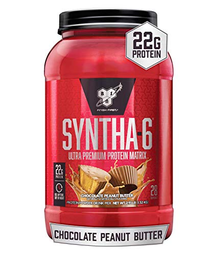 BSN SYNTHA-6 Whey Protein Powder (Chocolate Peanut Butter) 28 Servings $7.99 or less @Amazon
