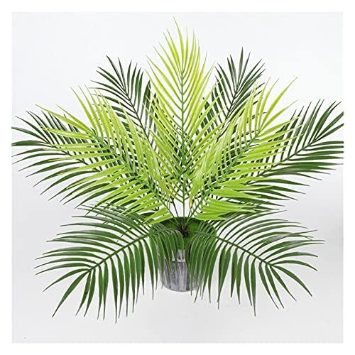 1 stück 9 Gabel 50 cm Kunststoff Künstliche Palmblatt Pflanzen Grüne Wüste Tropische Gefälschte Pflanze Garten Hochzeit Home Dschungel Party Dekoration Für Dschungel Party Wohnung Dekorationen Faux La