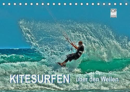 Kitesurfen - über den Wellen (Tischkalender 2022 DIN A5 quer)