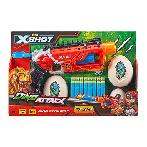 XShot Dino Attack Dino Striker Foam Dart Blaster (16 Darts, 4 Eggs) by ZURU (4866)