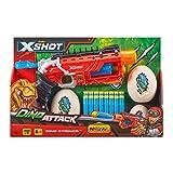 Zuru X-Shot Attack Ataque Dino Striker Espuma Blaster (16 Dardos, 4 Huevos), Color (4866-S001)