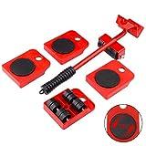 GEMITTO Juego de ruedas deslizantes para muebles pesados de, con sistema de deslizamiento de muebles, capacidad de carga de 150 kg, revestimiento antideslizante, para mover sin esfuerzo muebles