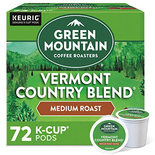 Green Mountain Coffee Roasters Vermont Country Blend, Single-Serve Keurig K-Cup Pods, Medium Roast Coffee, 12 Count, 6 Pack