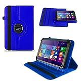UC-Express Huawei MediaPad X2 Tasche Hülle Cover Hülle Tablet Schutz Schutzhülle Drehbar Bag, Farben:Blau