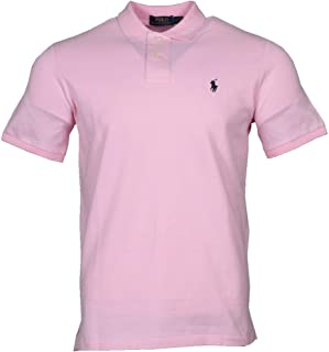 b03df7d53 Eligible for FREE Delivery. Ralph Lauren Polo Men Classic Fit Short Sleeve  Polo Light Pink