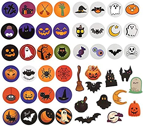 1 Inch//2.5cm 1000pcs Halloween Sealing Stickers Roll Self Adhesive Pumpkin Stickers Decal Baking Label for Envelope Gift Packing Wrapping DIY Craft Scrapbooking