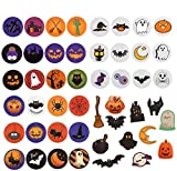 96 PCS Halloween Favors Stickers Sheets, Adhesive Halloween Round Pumpkin Bats Spiders Witch Stickers for Halloween Party Decorations Trick or Treat Goodie Bag Stuffer Filler for Kids