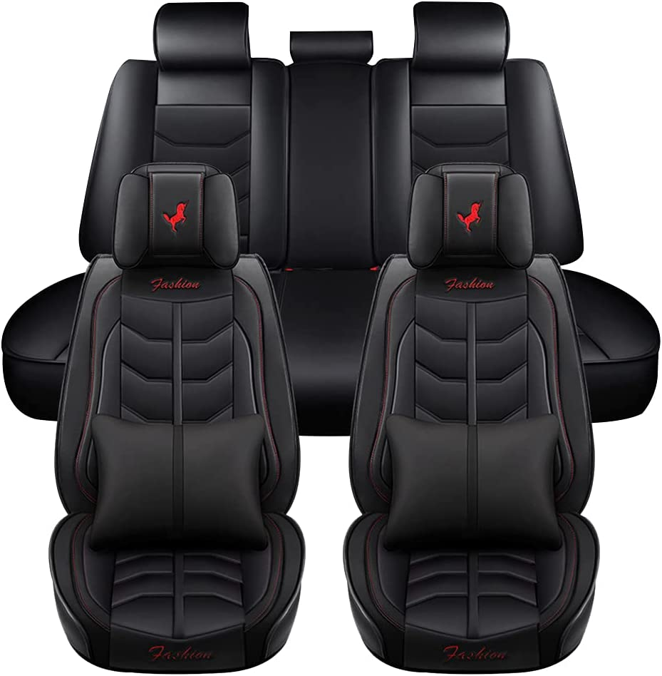 sold out Leather Universal Car Seat Covers Auto Dallas Mall Set Prot Full
