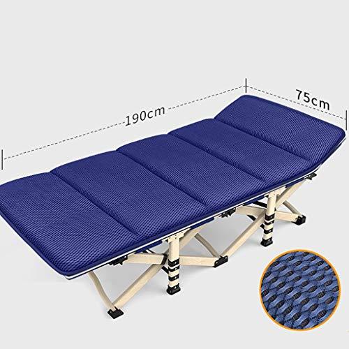 JZBar Fauteuil de détente Pliant et Respirant décontracté, Chaise Longue Simple lit de Bureau Sieste lit Pliant Taille: 75 * 190cm (Couleur : C)