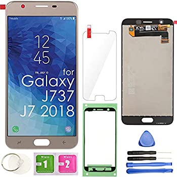 LCD Screen Replacement Touch Display Digitizer Assembly  Gold  for Samsung Galaxy J7 2018 J737 SM-J737 J737A / J7 Refine J737P / J7 Crown S767VL /J7 Aero/ J7 V J737V / J7 Star J737T