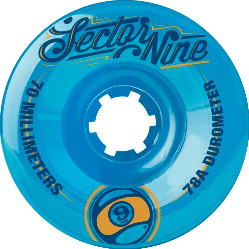 Sector 9 Top Self Nine Balls Skateboard Wheel, Blue, 70mm 78A (Pack of 4)