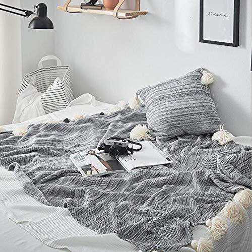 FUFU Mantas y mantitas Juego de Almohadas de Lanza de Punto de 2 Piezas (52'x72), Almohada de Tiro a Juego (18'x 18') para para sofá, Cama, Silla y sofá, Manta de Viaje Suave y cómoda para Todas la