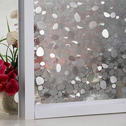 3D statische raamfolie vinilos decorativos Geplaveide vastklampen Privacy Glasraam Vinylfilm Kerst raamfolie Lengte 100cm, afmeting 50x90 cm