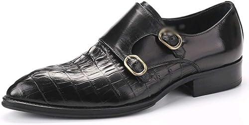 Calzado De Cocodrilo para hombres zapatos De Negocios Informales zapatos De Cuero para hombres zapatos con Hebilla De Inglaterra Solos