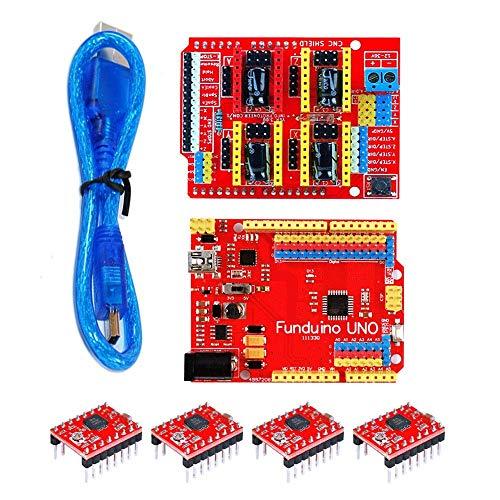 JIAHONG Accessories CNC shield V3 + R3 board + 4 pcs 4988 + 30CM transparent blue USB cable for 3D printer 3D Printer