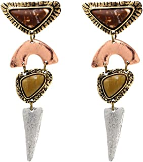 Limited Edition Irregular Bohemian Drop Dangle Earrings KELMALL COLLECTION