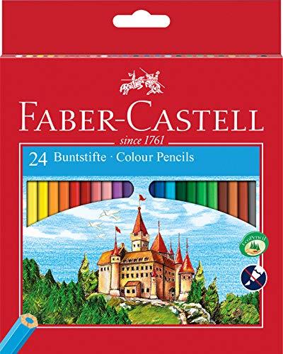 Faber-Castell 120124 - Set de 24 lápices ecológicos de colores, con sacapuntas