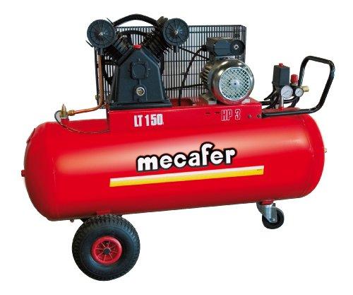 Mecafer - Compresseur d'air comprimé, 150L 3hp
