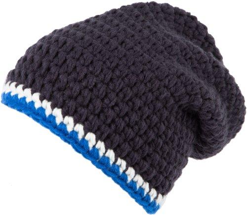 Ultrasport Strickmütze, anthrazit/weiß/blau, Lang, 90031