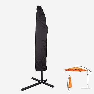 FLR 109Inches Umbrella Cover with Zipper Outdoor Waterproof Dustpoof Lightweight Patio Umbrella Parasol Covers Offset Umbrella for 9-13ft Outdoor Garden Beach Umbrellas