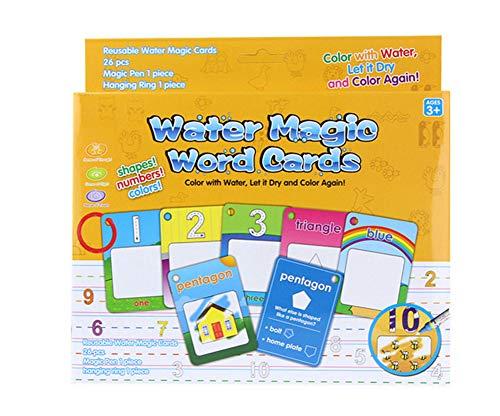 BENGO Doodle Malbücher Enthüllung mit Wasser 26pcs(123)mit Geschenke Verpackung, Magisches Wassermalbuch Kinder Bastelset Malen mit Wasser 2 Doodle Zusatzstift