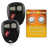 Discount Keyless Replacement Key Fob Car Entry Remote For Sierra Yukon Tahoe Silverado Suburban KOBLEAR1XT, 15042968 (2 Pack)