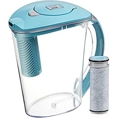 Brita 10 Cup Stream Filter as You Pour Water Pitcher with 1 Filter, Rapids, BPA Free, Available in Multiple Colors