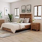 Furniture of America Nangetti Rustic Wood 2-Piece Queen Bedroom Set in Oak