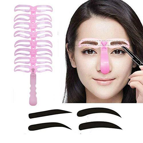 SIMPLISIM: 8 Pièces/Ensemble Maquillage Sourcils Pochoirs Professionnel Beauté Cosmétique