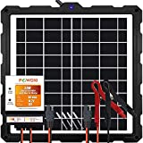 POWOXI-Upgraded-20W-Solar-Battery-Charger-Maintainer, External Smart 3-Stages PWM Charge Controller, 12V Solar Panel Trickle...