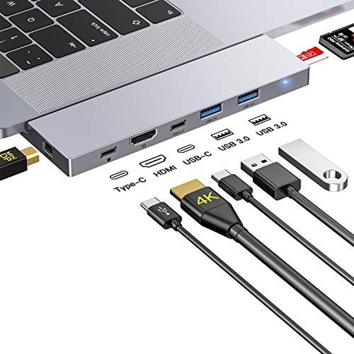 Honmax Hub USB C, 8 in 1 Dock Mini DP, HDMI 4K, 2