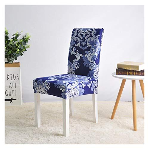 WQAZ Weicher Stuhlbezug Stuhlabdeckung Spandex Abnehmbare Sitzbezug für Büro Esszimmer Hochzeiten Party Bankett Universal Größe 1/2/4 / 6PC Samtmaterial (Color : Color 10, Specification : 2 PCS)