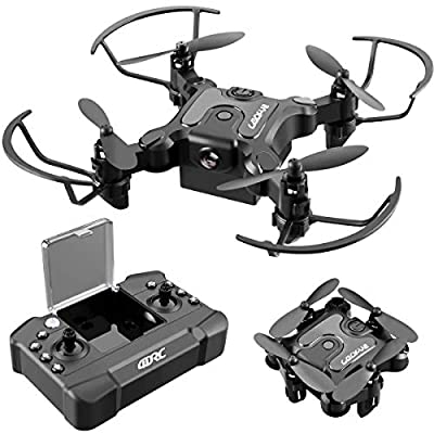 4DRC V2 Mini Drone for Kids RC Foldable Nano Drone Beginners Pocket Quadcopter for Boys and Grils Toys with Altitude Hold, Headless Mode, 3D Flips, One Key Return and Speed Adjustment and 3 Batteries