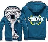 Li Largo Hoodies de los Hombres del Juego Rainbow Six Siege Imprimir suéter con Capucha Cremallera...