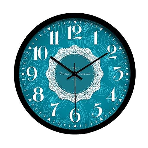 JJZST Reloj de Pared no accionado a Pilas, Reloj de Pared Decorativo silencioso, Relojes de Pared de Cocina para (Size : 12 Inches)