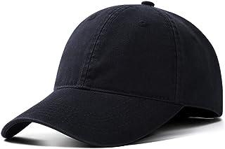 PPCP Baseball Cap Men and Women Washed Cotton Solid Color Casual Retro Black (Color : Black)