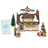 Department56 Original Snow Village The Toy House Lit Building and Accessories, 7.09', Multicolor