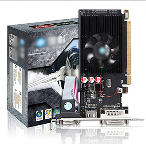 LYEJFF Grafikkarte, R5 230 1G DDR3-Grafikkarte 64bit HDMI, DVI-D, Single-Lüfterkühlsystem, schwarz