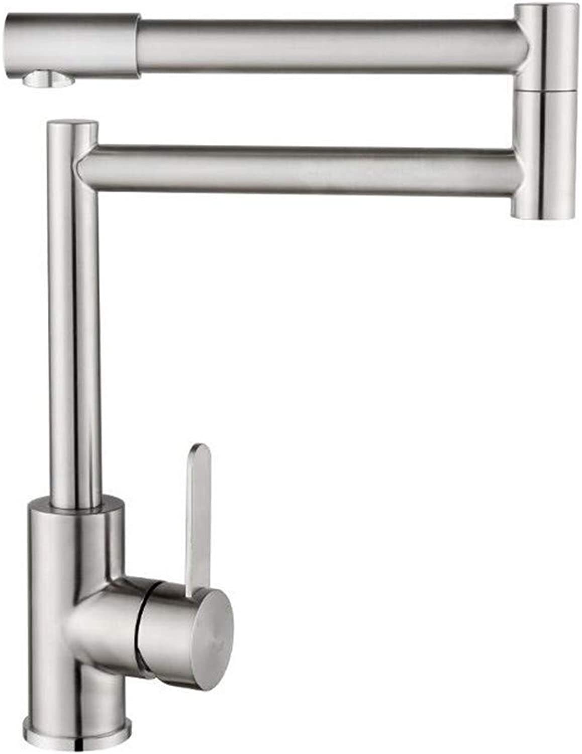 Oudan 304 Stainless Steel Cold Water Faucet Lavatory Hot and Cold Water Faucet Swingable, Size   -
