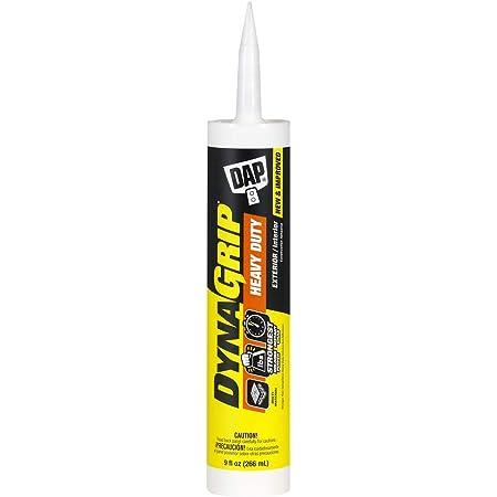 DAP 9Oz 27509 9 Oz DynaGrip Heavy Duty Exterior & Interior Construction Adhesive, 9 Ounce, Off-White