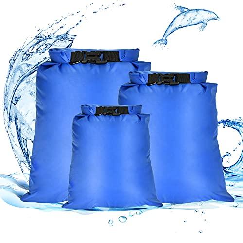 Dereine Bolsa Estanca, Bolsas Secas, Bolsa Estanca Impermeable, Ultra Ligero, Bolsa Impermeable para Kayak/Acampar/Senderismo/Hacer Rafting/Viaje/Playa(1.5L / 2.5L / 3L)