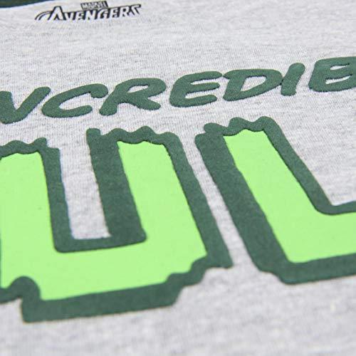 Cerdá Camiseta Manga Corta Premium Avengers T-Shirt, Grigio (Gris C13), Anni (Taglia Produttore: 10) Bambino