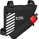 Bolsa para tubo superior de bicicleta, bolsa triangular impermeable para bicicleta, bolsa de sillín Prodrocam (negro)