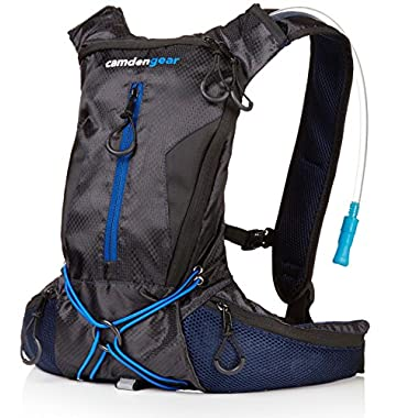 Camden Gear Hydration Backpack Running, with 2L Water Bag Pack Black