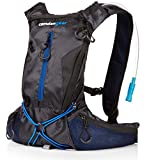 Hydration Backpack Running, with 2L Water Bag Pack Black