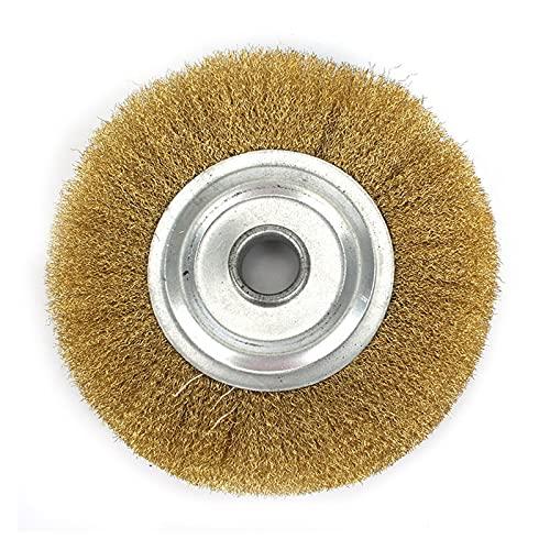 1 UNID 125mm 5 pulgadas Cepillo de latón de la rueda de alambre de cobre puro para el cepillo de pulido de metal Banco Grinder Pulido de metal DUO ER