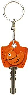 Rooster 3D Leather Key Cover Cap Keychain VANCA CRAFT-Made in Japan