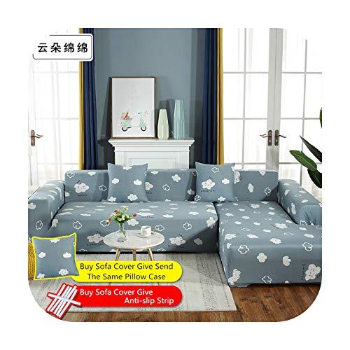 Fundas de sofá de 1/2/3/4 plazas elástico seccional nuevo sofá elástico funda para sala de estar sofá cubierta en forma de L silla esquinera de 24 a 45 x 45 cm, 2 fundas de almohada