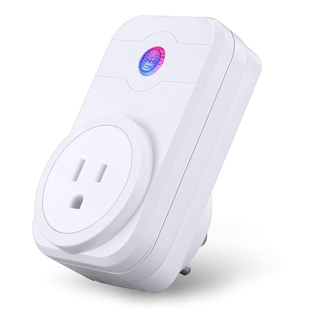 WiFi Smart Socket Mini Outlet Plug Compatible with Alexa/Google Home/IFTTT Wireless Smart Wall Socket Remote Switch with Timing Function Remote Control No Hub Required